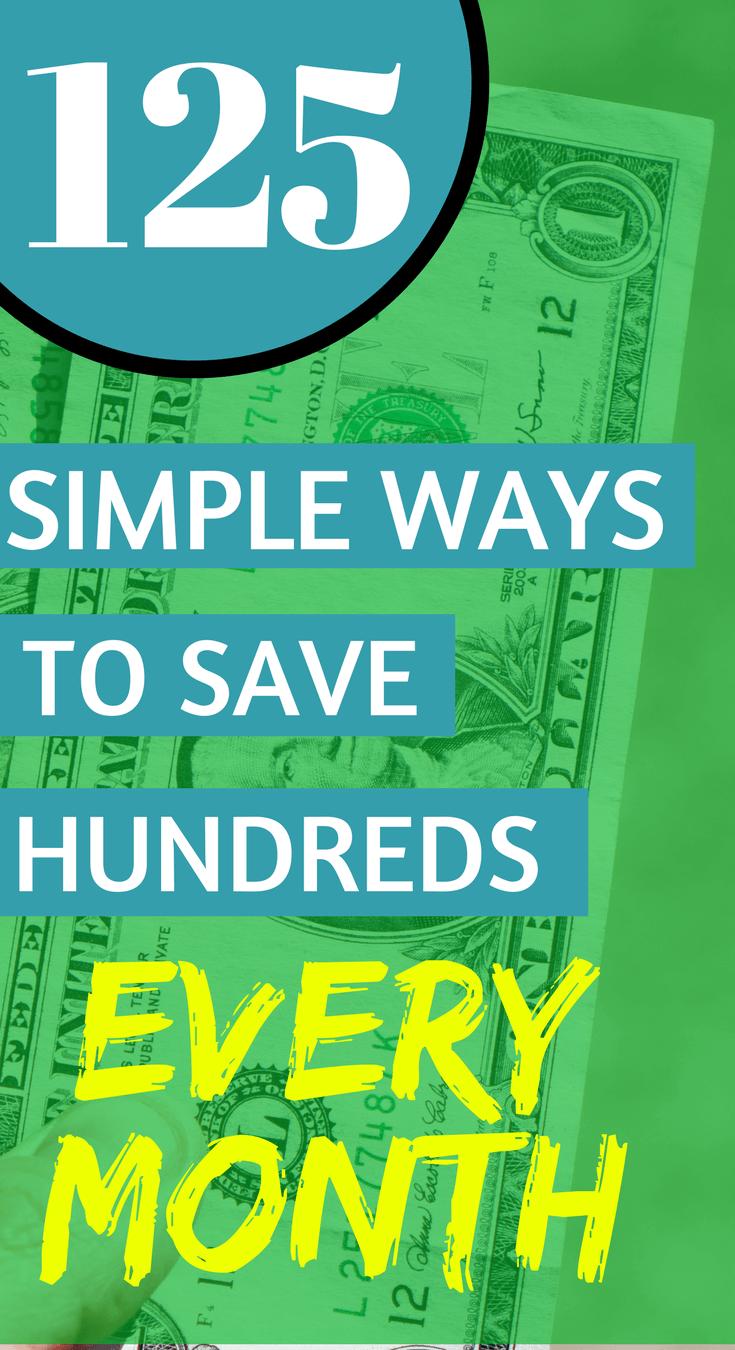125 Simple ways to save money